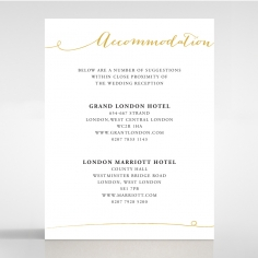 Infinity wedding accommodation card