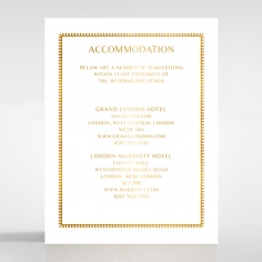 Ivory Doily Elegance with Foil wedding accommodation enclosure invite card