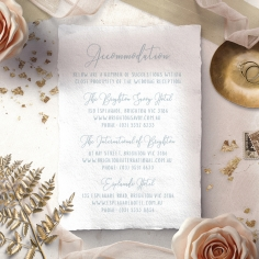 Love Circle accommodation card design