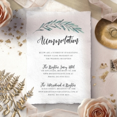 Modern Garland accommodation invite