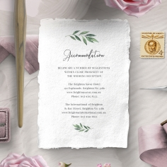 Modern Greenery accommodation stationery card design