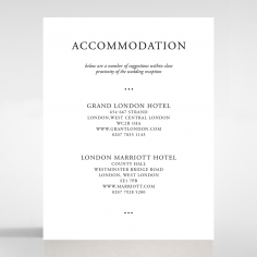 Paper Diamond Drapery accommodation invite