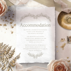 Preppy Wreath accommodation invitation card design