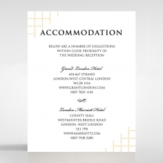Quilted Letterpress Elegance wedding accommodation enclosure card