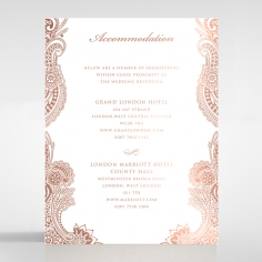 Regal Charm Letterpress with foil wedding accommodation invite