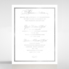 Royal Lace with Foil wedding accommodation invite card design