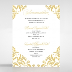 Victorian Extravagance wedding accommodation invite