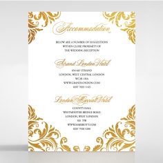 Victorian Extravagance with Foil wedding accommodation invitation card design