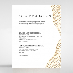 Woven Love Letterpress wedding accommodation enclosure invite card design