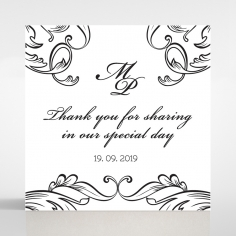 Paper Aristocrat wedding gift tag design