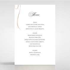 A Polished Affair wedding stationery menu card item