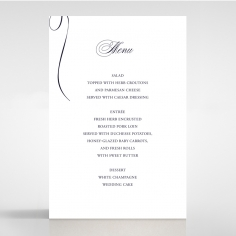 A Polished Affair reception menu card