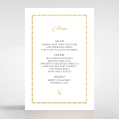 Blooming Charm wedding reception menu card stationery