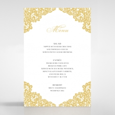 Charming Lace Frame wedding reception table menu card stationery item