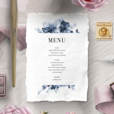 Dusty Watercolour wedding stationery menu card design