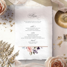 Enchanting Florals menu card