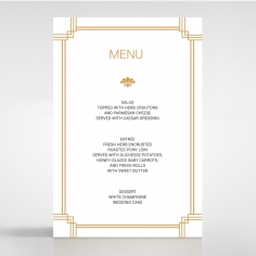 Gilded Decadence wedding venue menu card