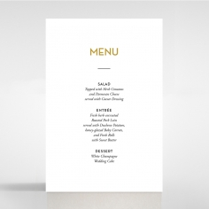 Gold Chic Charm Paper wedding venue menu card stationery design