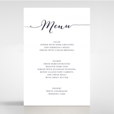 Infinity wedding stationery menu card design