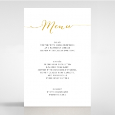 Infinity wedding stationery menu card