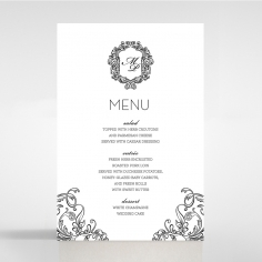 Paper Aristocrat wedding stationery table menu card item