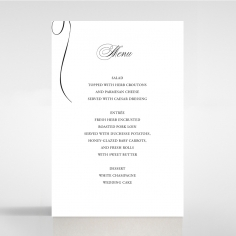 Paper Polished Affair wedding stationery table menu card
