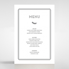 Playful Love menu card stationery design