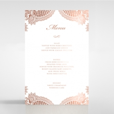 Regal Charm Letterpress with foil reception menu card stationery