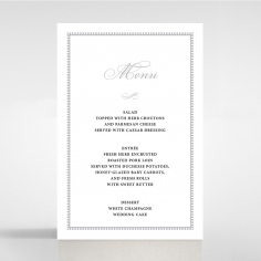 Royal Lace wedding venue table menu card stationery item
