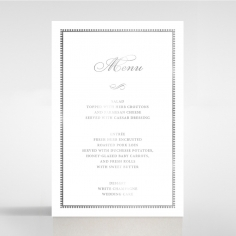Royal Lace with Foil wedding venue table menu card stationery design