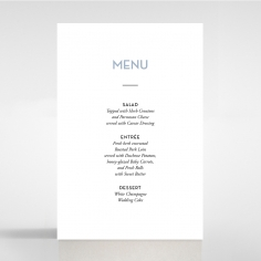 Silver Chic Charm Paper wedding venue menu card stationery item