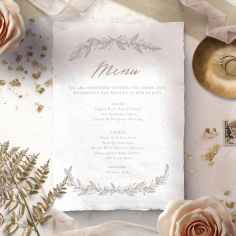 Simple Charm reception table menu card stationery item