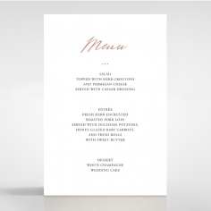 Sunburst table menu card design