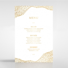 Woven Love Letterpress with foil reception menu card stationery design