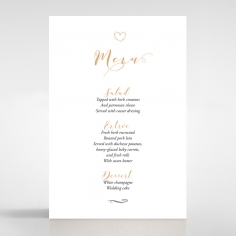Written In The Stars - Navy menu card design