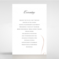 A Polished Affair order of service ceremony stationery card