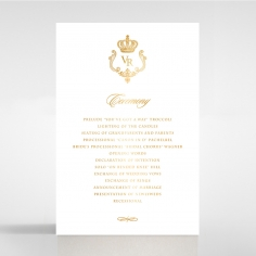 Black Victorian Gates with Foil order of service invite