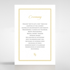 Blooming Charm order of service card