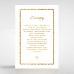 Blooming Charm with Foil wedding stationery order of service ceremony invite card design