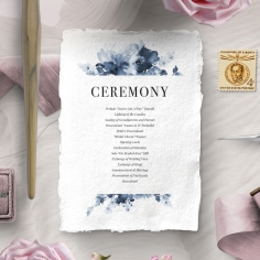 Dusty Watercolour order of service invite card design