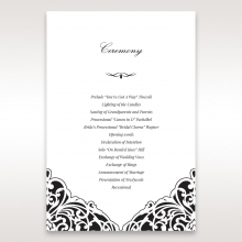 elegance-encapsulated-laser-cut-black-wedding-stationery-order-of-service-ceremony-card-DG114009-WH