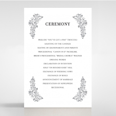 Enchanted Crest order of service invite