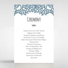 Forest Love wedding stationery order of service ceremony card