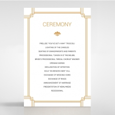 Gilded Decadence wedding order of service invite card design