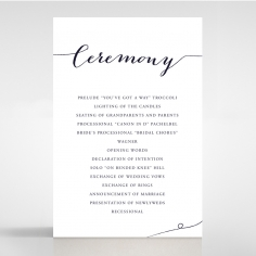 Infinity order of service stationery invite card design