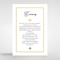 Ivory Doily Elegance order of service wedding card design