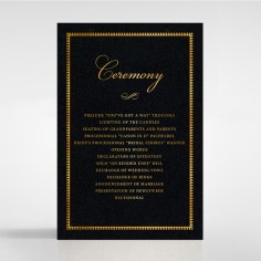 Lux Royal Lace with Foil order of service ceremony invite card