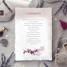 Magenta Wed order of service wedding invite card