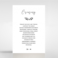 Paper Chic Rustic wedding order of service invite card design