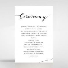 Paper Infinity wedding order of service ceremony invite card design